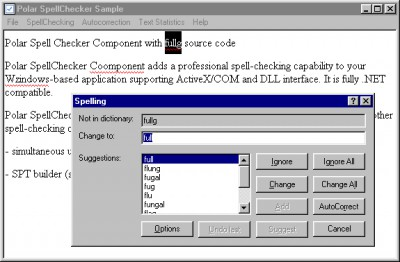 Polar SpellChecker Component 5.0 screenshot