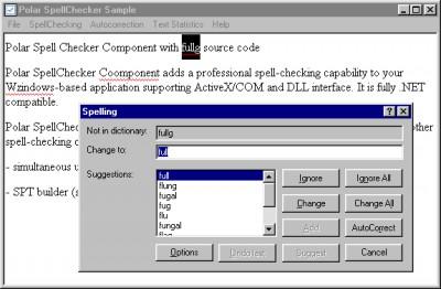 Polar SpellChecker Component 5.0 screenshot