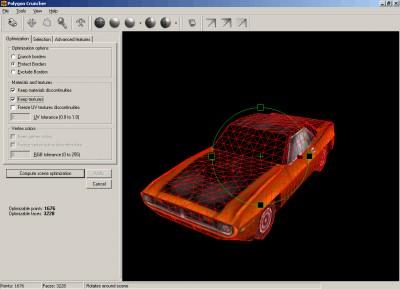 Polygon Cruncher for 3D Photo Browser 11.04 screenshot