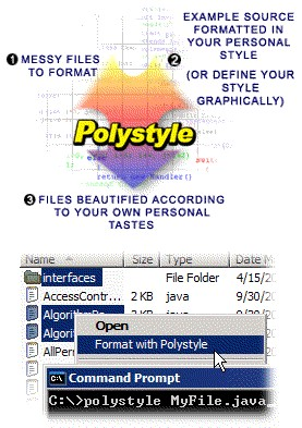 Polystyle Source Code Beautifier 2.0zj screenshot