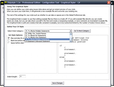 Polystyle Source Code Formatter And Obfuscator 4.0 screenshot