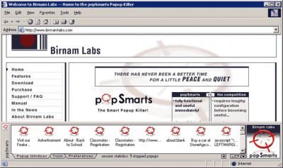 popSmarts Popup Killer 1.01 screenshot