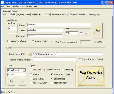 PopTransAct 4.0 screenshot