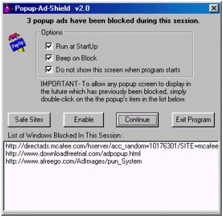 Popup Ad Shield 2.1 screenshot