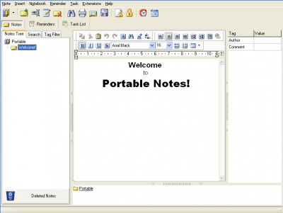 Portable Notes 1.0 screenshot