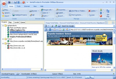 Portable Offline Browser 7.5 screenshot