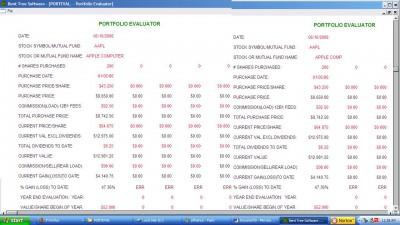 Portfolio Evaluator+ 1.2 screenshot