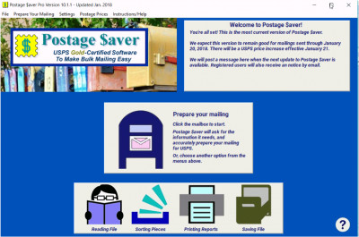 Postage Saver for Windows 9.1.4 screenshot
