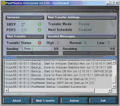 PostMaster Enterprise 5.2 screenshot