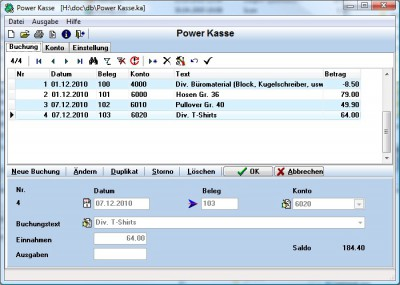 Power Kasse 2.6 screenshot
