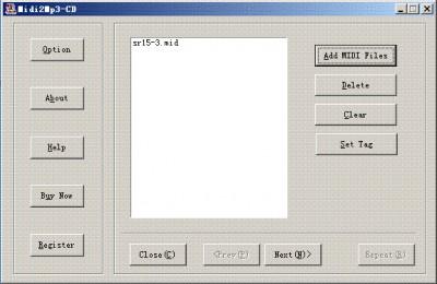 Power MIDI to CD 3.0 screenshot