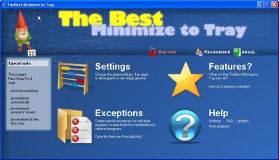 Power Minimize to Tray 1.12 screenshot