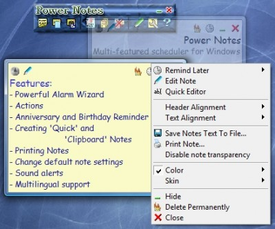 Power Notes 3.69 screenshot