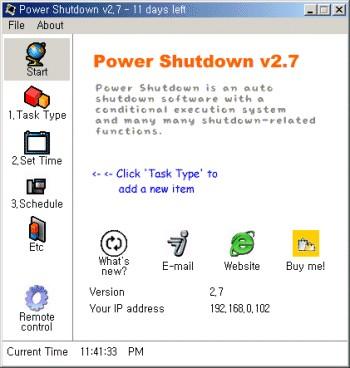 Power Shutdown 2.7 screenshot
