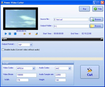 Power Video Cutter 5.9.415 screenshot