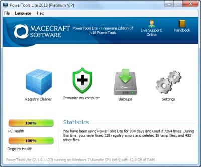 PowerTools Lite 2013 2.1.0.1200 screenshot