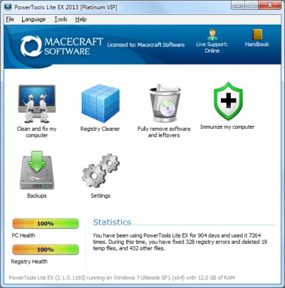 PowerTools Lite EX 2013 2.1.0.1201 screenshot