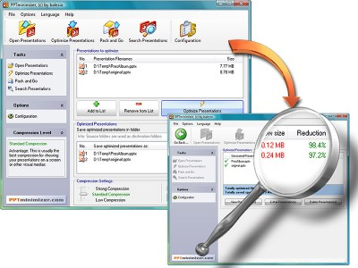 PPTminimizer 4.0 screenshot