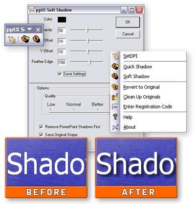 pptXTREME SoftShadow for PowerPoint 2.00.52 screenshot