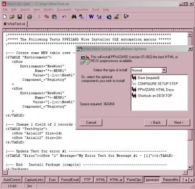 PPWIZARD - HTML PREPROCESSOR 06.159 screenshot