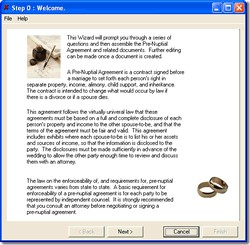 Pre Nuptial Agreement Software 1 screenshot