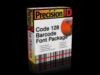 PrecisionID Code 128 Barcode Fonts 2012 screenshot