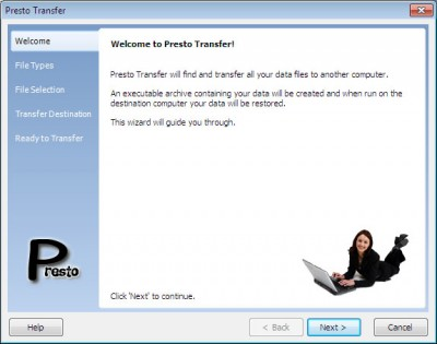 Presto Transfer IM 3.42 screenshot