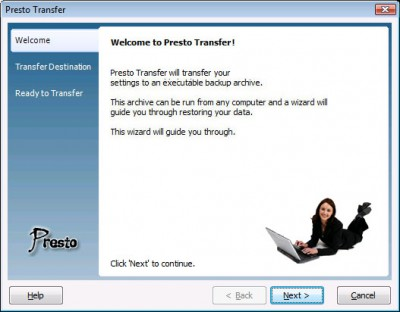 Presto Transfer IncrediMail 2.2 screenshot