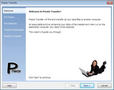 Presto Transfer Skype 3.42 screenshot
