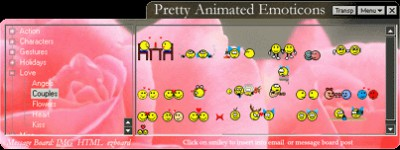 Pretty Animated Emoticons 3.02 screenshot
