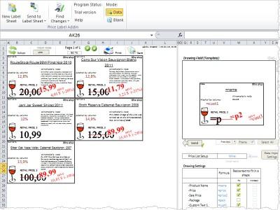 Price Label Addin for Microsoft Excel 1.5.1 screenshot