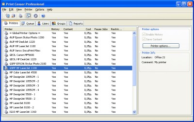Print Censor Enterprise 5.60 screenshot