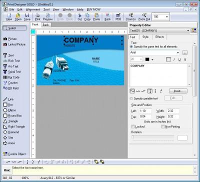 Print Designer GOLD 10.2.0.0 screenshot