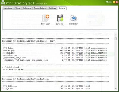 Print Directory 2.2.0.0 screenshot