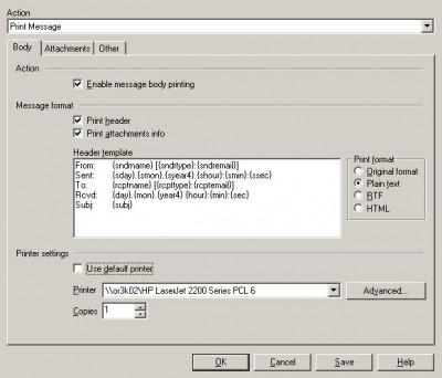 Print Message 2.63.3 screenshot