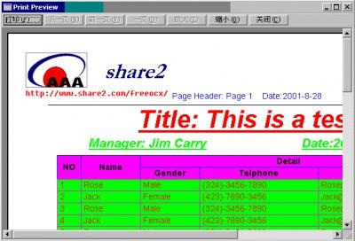 Print Preview ActiveX Control 1.40 screenshot
