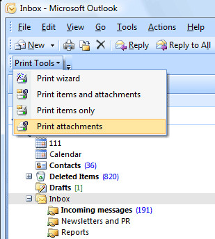 Print Tools for Outlook 1.10 screenshot
