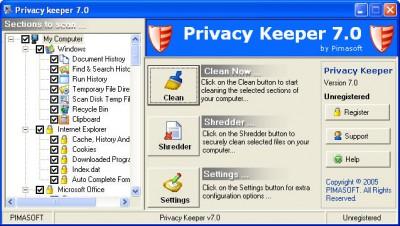 Privacy Keeper 7.0.1 screenshot