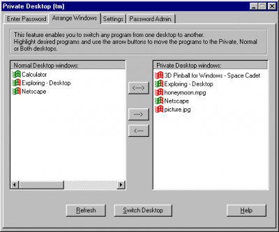 Private Desktop 2.0 screenshot