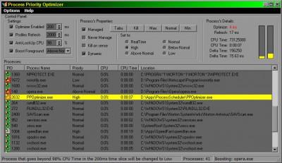 Process Priority Optimizer 2.2.7.125 screenshot