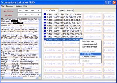 professional Look at Net DEMO 1.0.0 screenshot