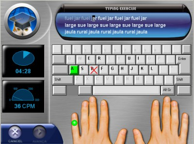 Professor PC - Typing Tutor 1.46 screenshot