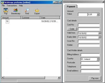 Proforma 2003 screenshot