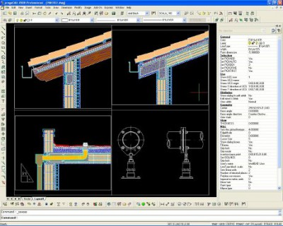 progeCAD Professional 2009 DWG CAD 9.0.28.10 screenshot