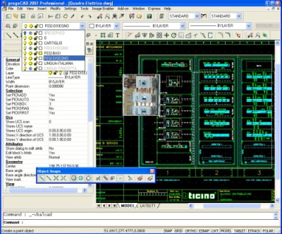 progeCAD Standard IntelliCAD Software 2011 screenshot