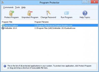 Program Protector 4.11 screenshot