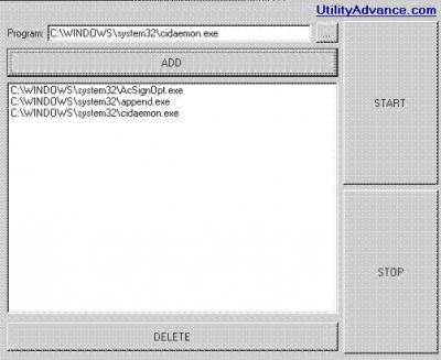 Program starter 1 screenshot