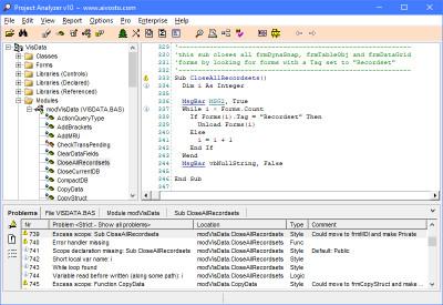 Project Analyzer 10.2.04 screenshot