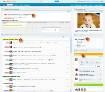 Project management software Comindwork 2.7 screenshot