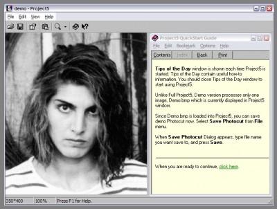 Project5 Photocut Processor 1.0.10.100 screenshot